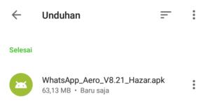 cara download whatsapp aero selesai